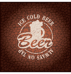 Wall beer vector