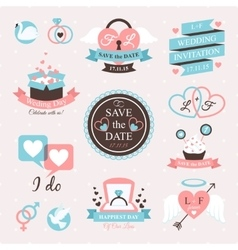 Wedding Emblem Set vector