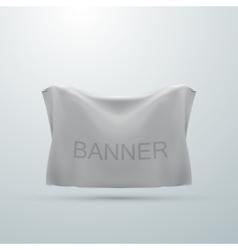 White textile banner mock-up vector