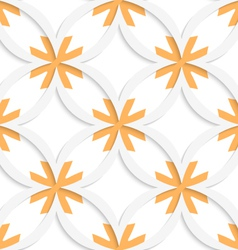 White vertical pointy squares with orange layering vector