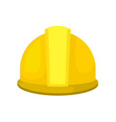 yellow plastic helmet for construction worker vector image