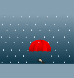 young businessman umbrella show leadership and vector image