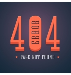 404 error page for website vector image