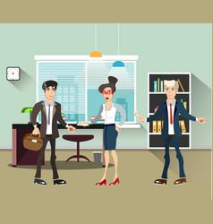 office people teamwork brainstorming in flat vector image vector image