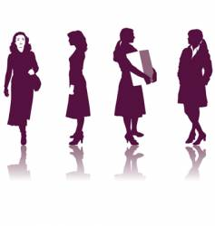 business women silhouettes vector image