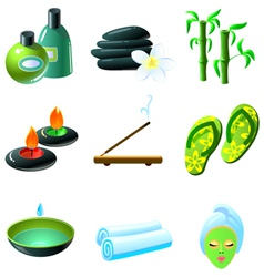 colorful spa icons set vector image vector image