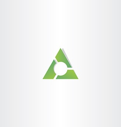 green triangle gradient logo design element vector image
