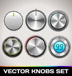 Knobs Set vector image