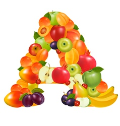 letter a made from fruit vector image