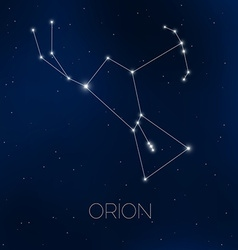 Orion constellation in night sky vector image vector image