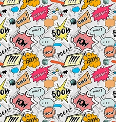 Seamless pattern background with handdrawn comic vector image