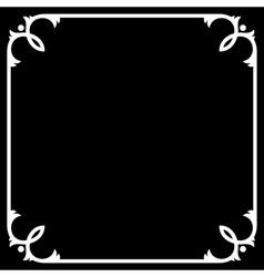 Silent Movie Black Frame with White Border vector image