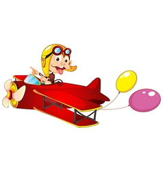 A monkey in airplane vector image vector image