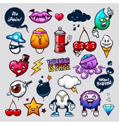 Graffiti Bizarre Characters vector image vector image