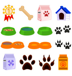 line art black and white pet care 15 icon set vector image