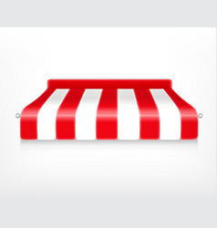Red and white striped awning vector