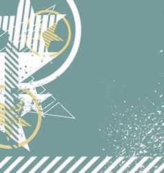 retro grunge star background vector image vector image
