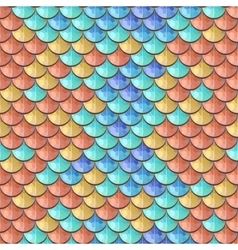 Seamless colorful river fish scales vector image