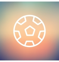 Soccer ball thin line icon vector image vector image