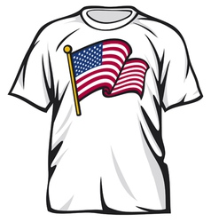 United States of America t-shirt vector image