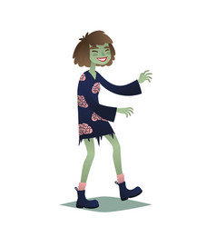 zombie girl cute young woman in style of dead vector image
