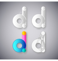 Abstract Combination of Letter D vector image vector image