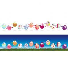 egg strips vector image