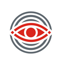 eye round geometry logo vector image