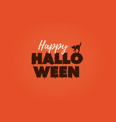 happy halloween text logo vector image vector image