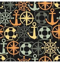 Marine seamless pattern vector image