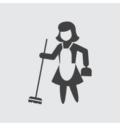 Sweeping maid icon vector image vector image