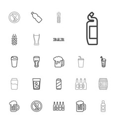 22 beer icons vector