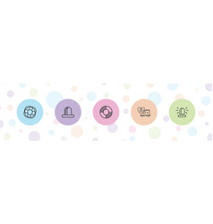 5 rescue icons vector
