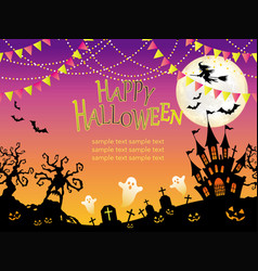 a seamless halloween vector image