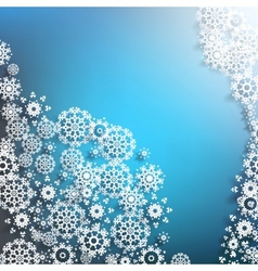 Abstract background with snowflakes EPS 10 vector image