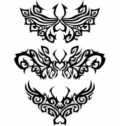 abstract tattoos vector image