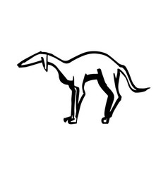 animaldog long animalsilhouette vector image