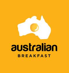 australia logo design vector image
