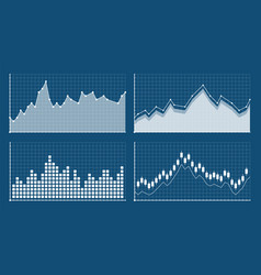 bar graph and line graph templates business vector image