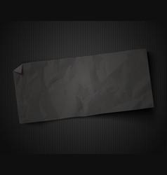 black paper on vintage black background vector image