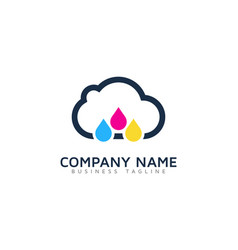 brush cloud logo icon design vector image