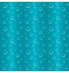 Bubbles in water seamless background vector image