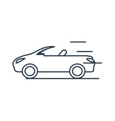 Car convertible isolated icon vector