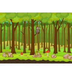 Cartoon forest background vector