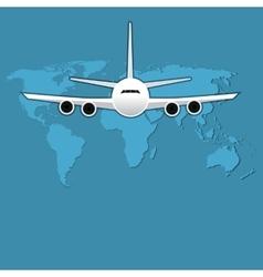 Civil aviation travel passenger air plane vector