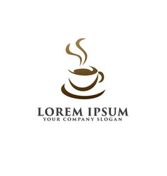 coffe logo design concept template vector image