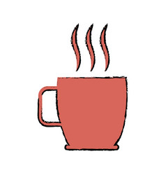 Coffee cup hot beverage drink aroma vector