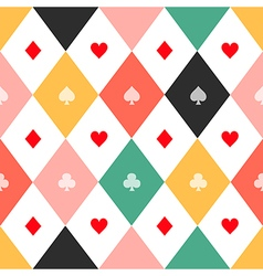 Colorful Card Suits Chess Board Diamond vector image