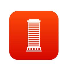 column icon digital red vector image vector image