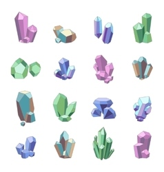 Crystal Minerals Set vector